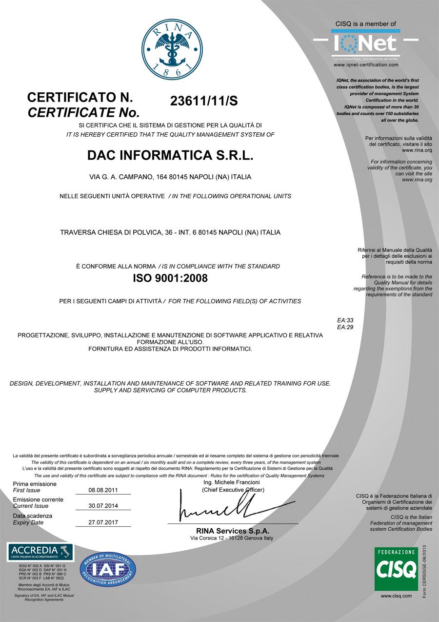 DAC-Informatica-RINA-ISO-90012008
