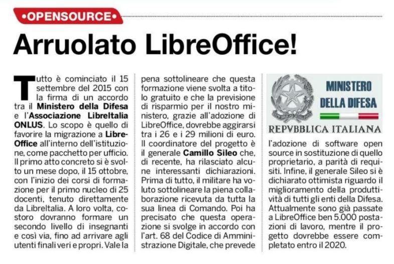 Arruolato LibreOffice